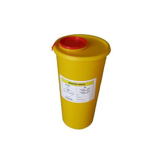 Nádoba na zdravotnický odpad, žlutá, 2,5 l - Prodloužená záruka na 10 let