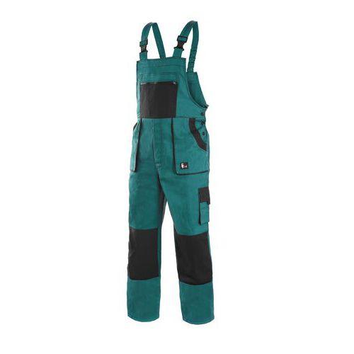 Zimní pánské montérkové kalhoty CXS s laclem, zelené/černé