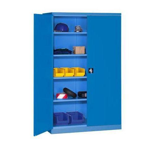 Kovová dílenská skříň, 199 x 100 x 60 cm, modrá/modrá