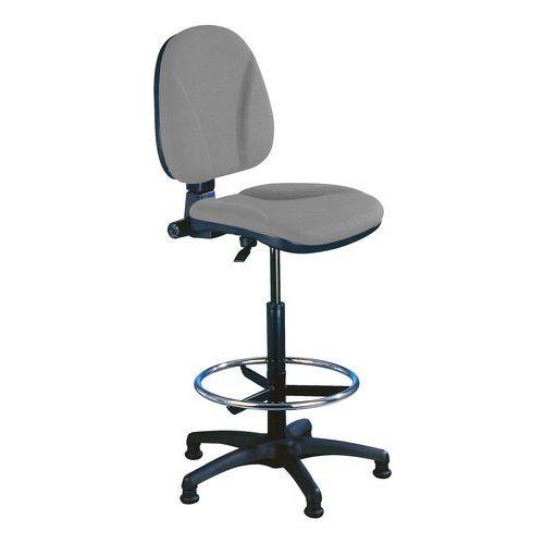 Pracovní židle Ergo s kluzáky, šedá