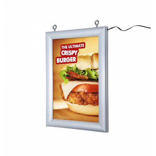 Oboustranný rám na plakáty Lendraw s LED osvětlením, 50 x 70 cm