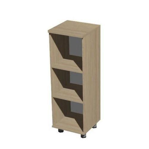 Střední úzká skříň Set, 118 x 40 x 40 cm, otevřená, dezén světlé dřevo - Prodloužená záruka na 10 let