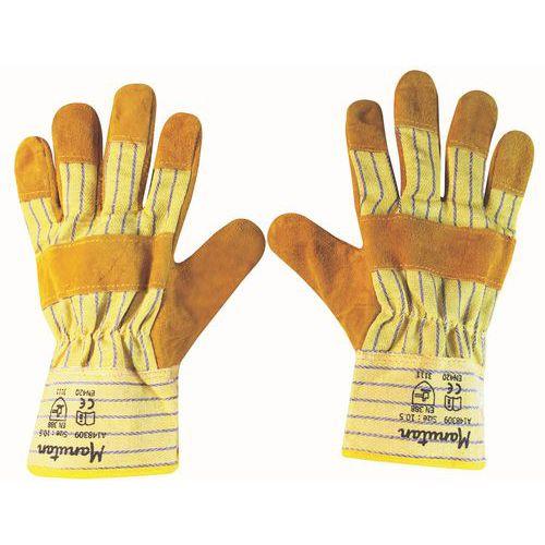 Kožené rukavice Manutan, žluté