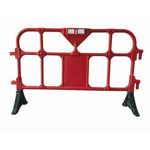 Přestavitelná plastová bariéra Manutan, 1,5 m, červená