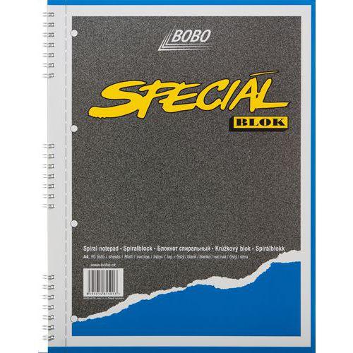 Blok A4 special s kovovou boční spirálou, čistý, 5 ks