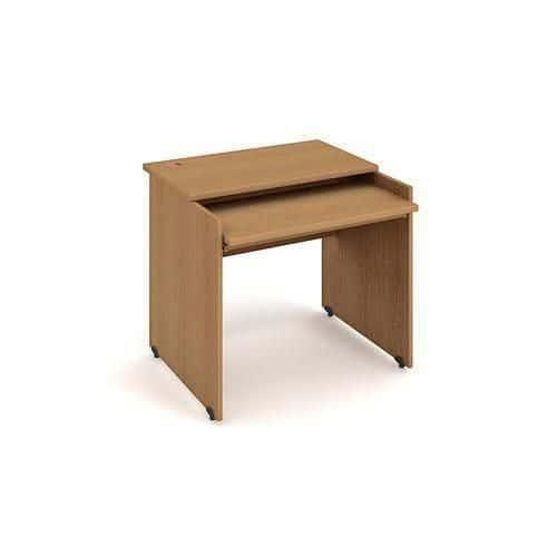 Kancelářský stůl pro PC, Gate, 85 x 80 x 75,5 cm, rovné provedení, dezén buk - Prodloužená záruka na 10 let