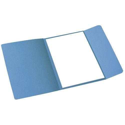 Papírové spisové desky Cloud, 100 ks, modré