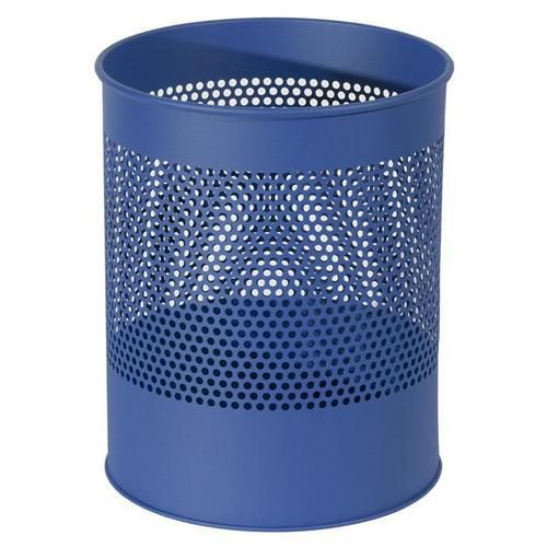 Kovový odpadkový koš Gap, objem 15 l, modrý