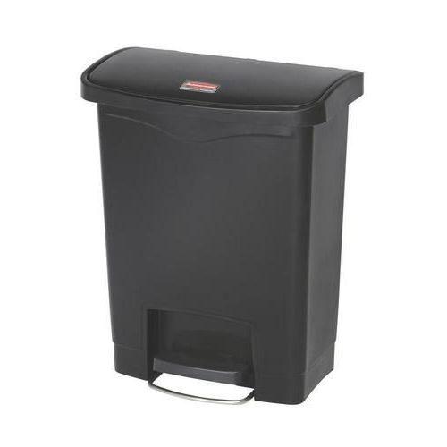 Plastový odpadkový koš Rubbermaid Front Step, objem 30 l, černá
