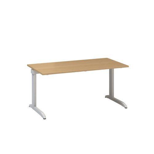 Kancelářský stůl Alfa 300, 160 x 80 x 74,2 cm, rovné provedení, dezén buk