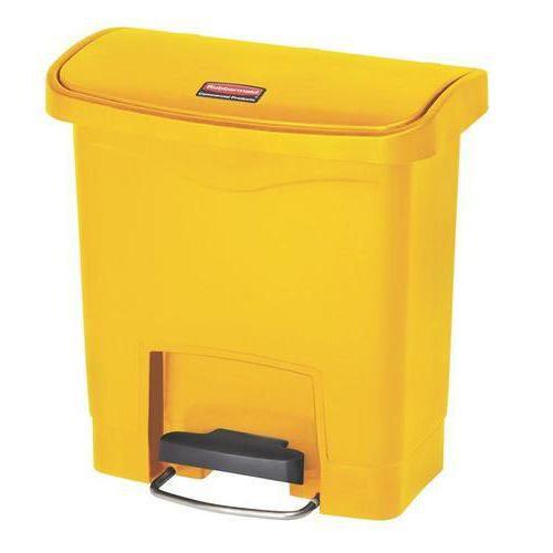Plastový odpadkový koš Rubbermaid Front Step, objem 15 l, žlutý
