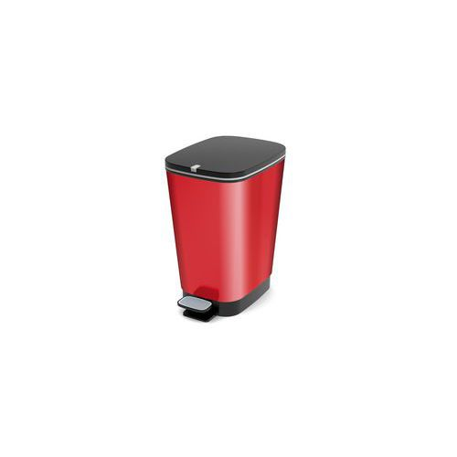 Plastový odpadkový koš Chic, objem 35 l, červený
