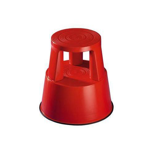 Pojízdné plastové stupátko, červené