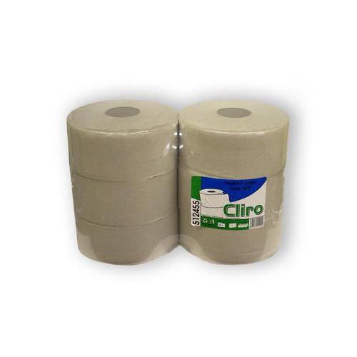 Toaletní papír CLIRO 240 1vrstvý, 200 m, 50 % bílý, 6 ks