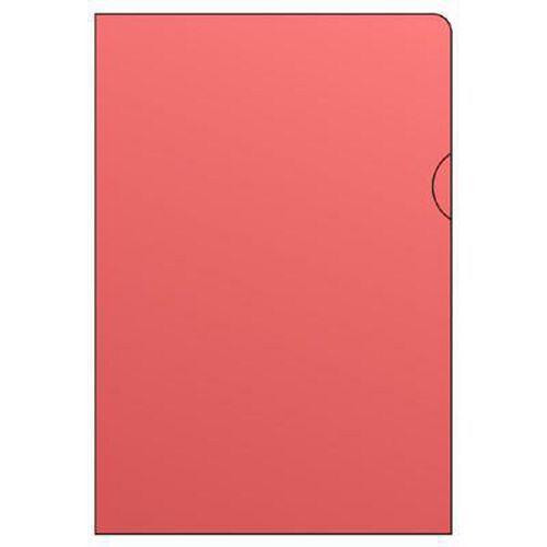 Barevné zakládací obaly L, hladké, 100 ks, červené