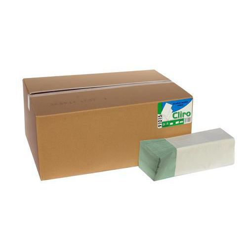 Papírové ručníky CLIRO 1vrstvé, zelené, 20 ks
