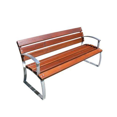 Parková lavička Aster s opěradlem a područkami