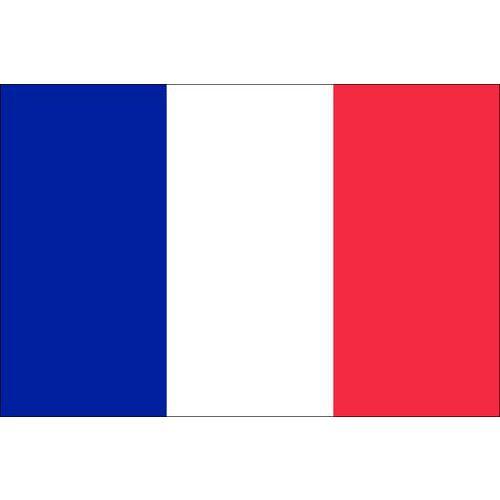 Malá státní vlajka, s očkem pro zavěšení, 16 x 11 cm, Francie