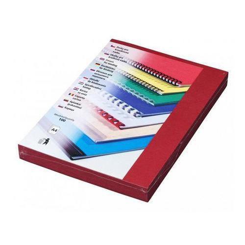 Desky pro kroužkovou vazbu, karton imitace kůže, červené