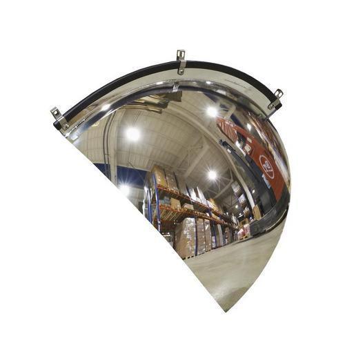 Kontrolní parabolické zrcadlo, rohová výseč, 600 mm