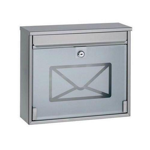 Kovová poštovní schránka Envelope, bílá/matný nerez