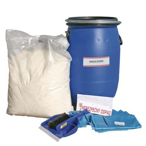 Havarijní souprava s hydrofobním sorbentem Reosorb, olejová, sor