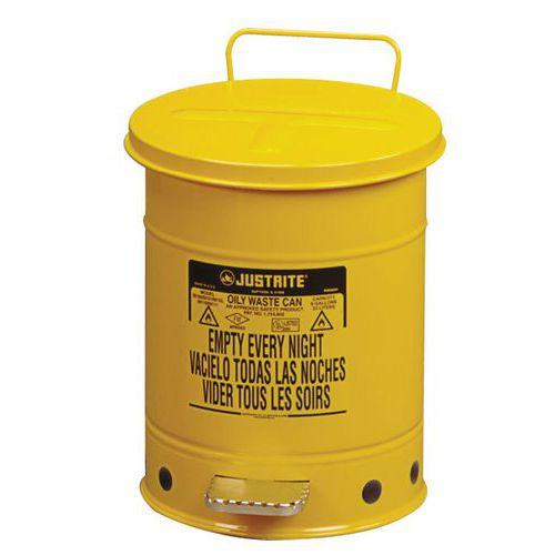 Kovové odpadkové koše pro hořlavé a nebezpečné látky, objem 34 l