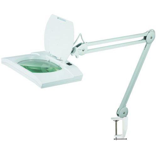 Laboratorní lampa Manutan Buzzard s čtvercovou lupou, 18 W