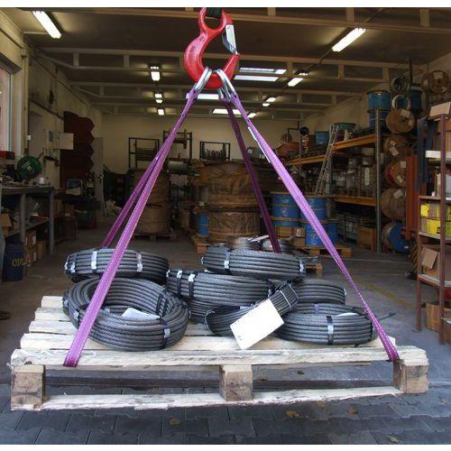 Zvedací popruh s kovovými oky, do 5 000 kg, dvouvrstvý, délka 3