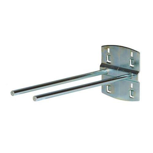 Háček na nářadí, dvojitý, 0 o, délka 150 mm