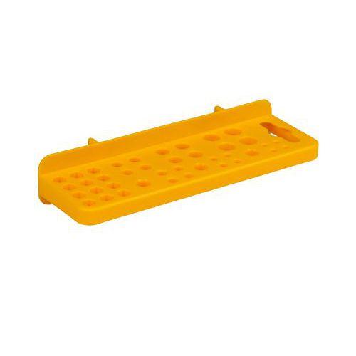Držák na vrtáky, Délka: 165 mm, Materiál: plast, Barva: Žlutá