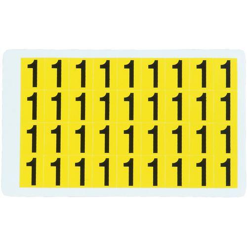Samolepicí číslice, 19 x 14 mm