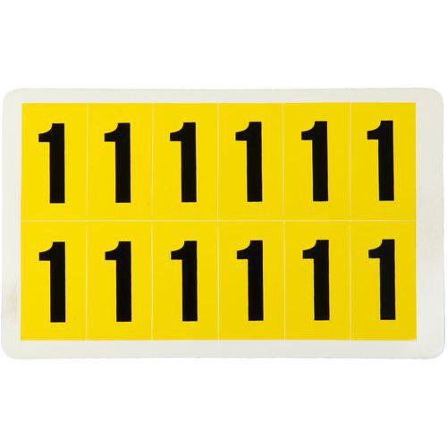 Samolepicí číslice, 38 x 21 mm