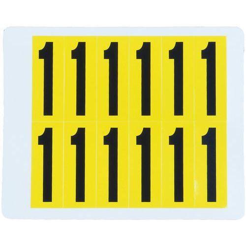 Samolepicí číslice, 56 x 21 mm