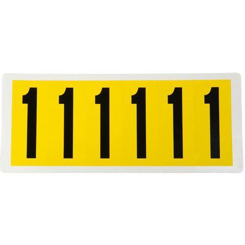 Samolepicí číslice, 90 x 38 mm