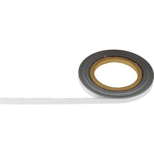 Magnetická páska na regály Manutan, 10 m, bílá, šířka 10 mm