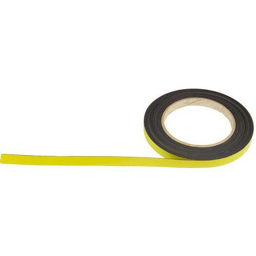 Magnetická páska na regály Manutan, 10 m, žlutá, šířka 10 mm