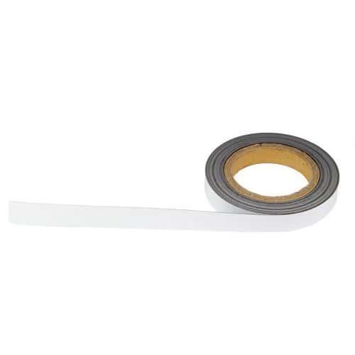 Magnetická páska na regály Manutan, 10 m, bílá, šířka 20 mm