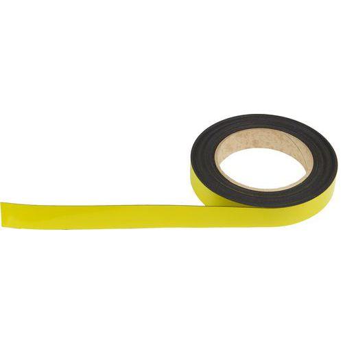 Magnetická páska na regály Manutan, 10 m, žlutá, šířka 20 mm