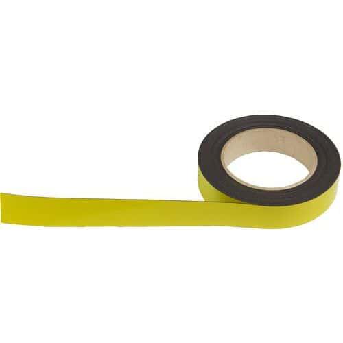 Popisovatelná páska na regály, magnetická, žlutá, šířka 25 mm