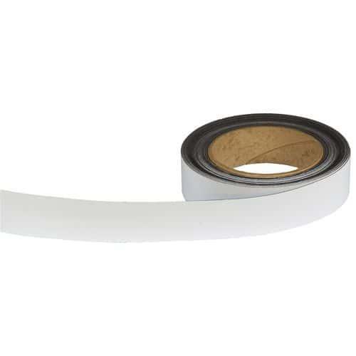 Magnetická páska na regály Manutan, 10 m, bílá, šířka 30 mm