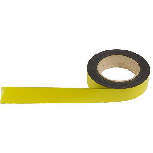 Magnetická páska na regály Manutan, 10 m, žlutá, šířka 30 mm
