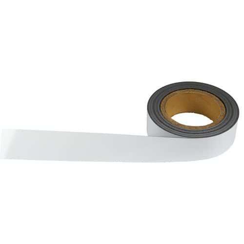 Popisovatelná páska na regály, magnetická, bílá, šířka 40 mm