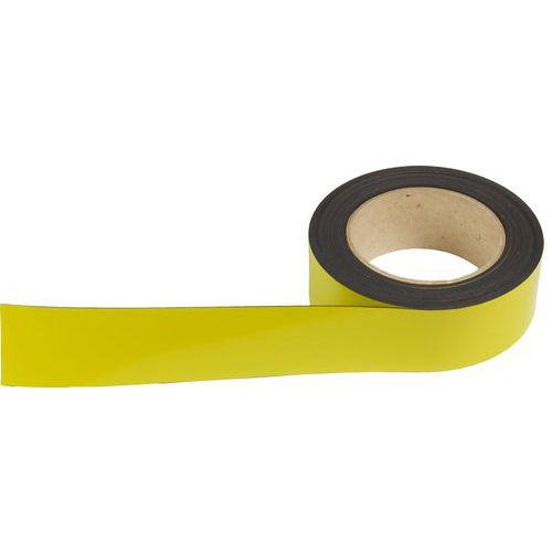 Magnetická páska na regály Manutan, 10 m, žlutá, šířka 40 mm
