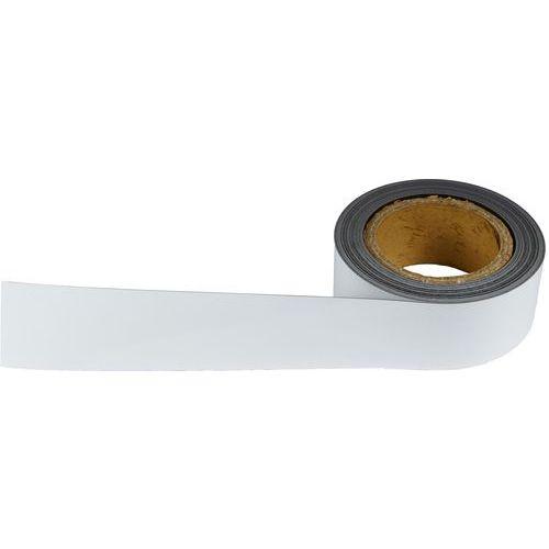 Magnetická páska na regály Manutan, 10 m, bílá, šířka 50 mm