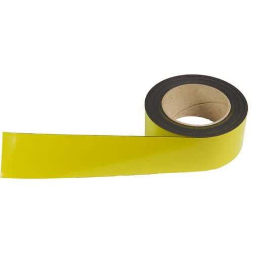 Magnetická páska na regály Manutan, 10 m, žlutá, šířka 50 mm
