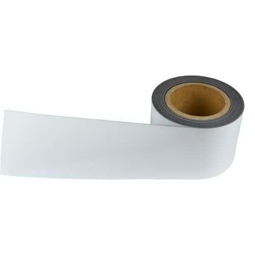 Magnetická páska na regály Manutan, 10 m, bílá, šířka 90 mm