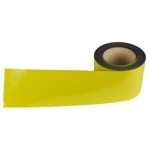 Magnetická páska na regály Manutan, 10 m, žlutá, šířka 90 mm