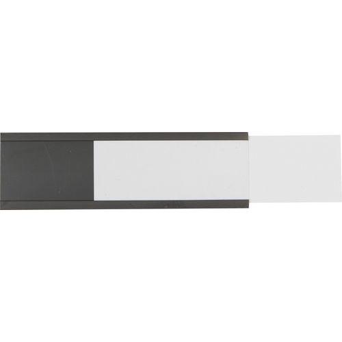 Manutan Držák etiket na regály, magnetický, 25 x 80 mm