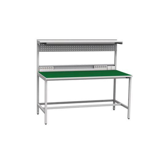 Svařovaný antistatický pracovní stůl, 141,2 x 160 x 81 cm - Prodloužená záruka na 10 let
